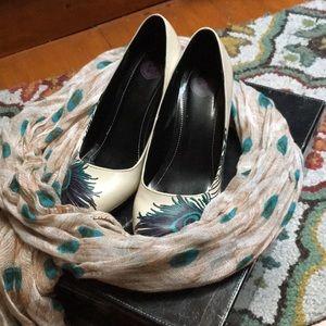 TUK peacock heels with scarf